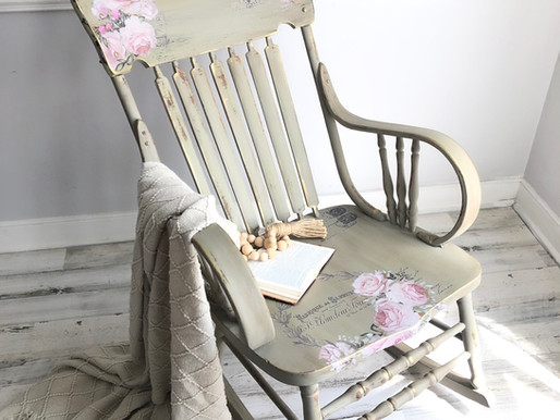 Let's Paint A Rocking Chair - Hokus Pokus US Transfer & Dixie Belle Paint Makeover!
