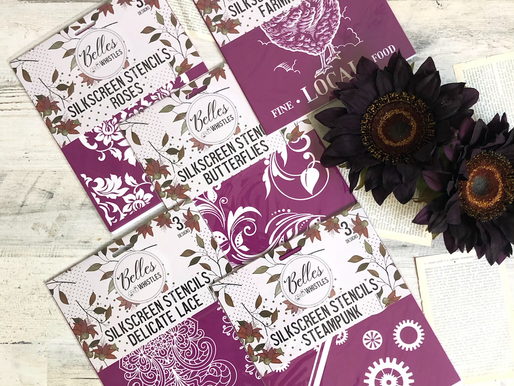 How To Use A Belle's & Whistles Silkscreen Stencil