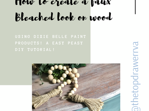 How to faux finish a bleach look on a wood top!