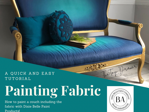 How To Paint Fabric - Painting A Couch