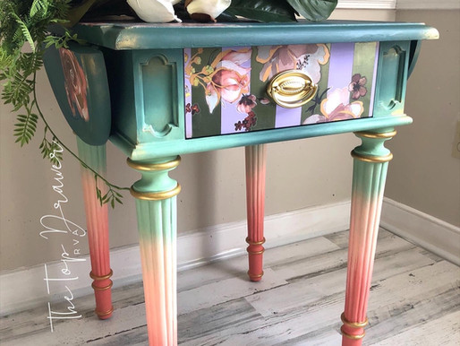 How To Design & Paint a Art Deco Miami Inspired Table