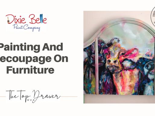 Painting & Decoupage On A Headboard