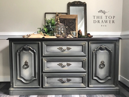 Painted Buffet with Dixie Belle Paint and Gel Stain
