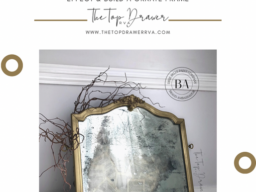 How To Age A Mirror & Create A Gold Ornate Frame