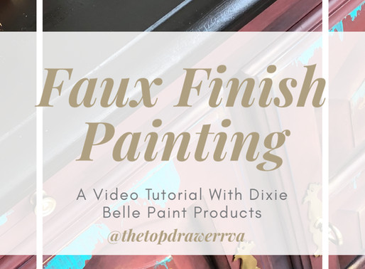 Moroccan Design - A Furniture Makeover Using Dixie Belle Paint