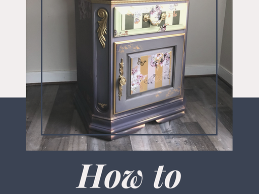How To Use Transfers & Paint to Transform a End Table - Simple Photo Tutorial