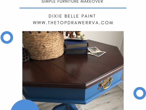 Simple Paint Makeover For Furniture