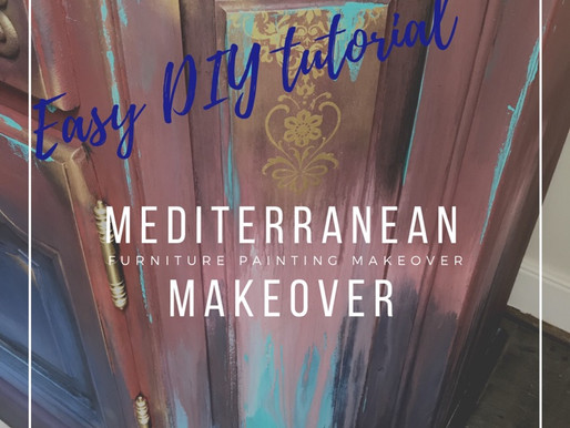 Mediterranean Make Over ~ Furniture Upcycle