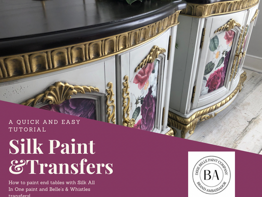 Silk Paint Makeover Featuring Belles & Whistles Transfer