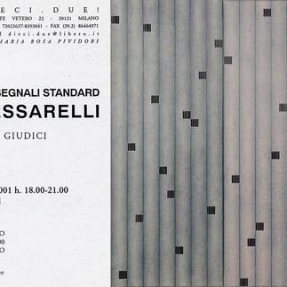 INTERAZIONI CON SEGNALI STANDARD, Galleria Dieci.Due! - Milano, 2001, cartolina invito