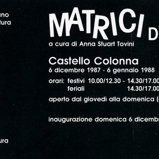 MATRICI DI GIOCO, Castello Colonna - Genazzano, 1987