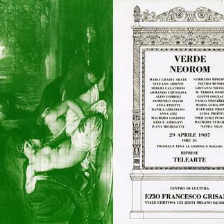 VERDE NEOROM - Assoarte - Milano, 1987, cartolina invito