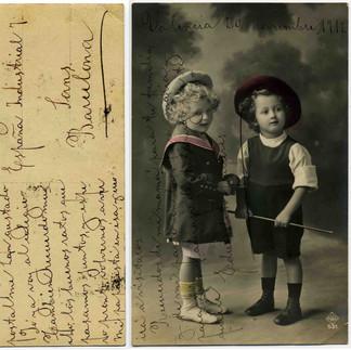 cartolina acquistata ai mercatini dell'antiquariato / postcard purchased at flea market