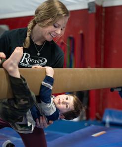 Coach teaching Child