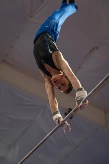 Gymnast on Bars