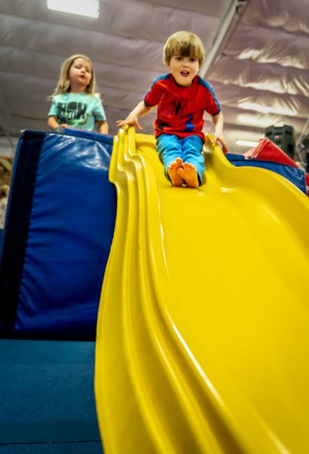 Summer Camp: Camper on Slide