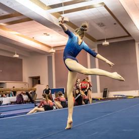 Gymnast Performing Floor Routine