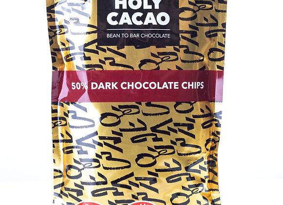 הולי קקאו - שוקולד צ'יפס מריר 50% מוצקי קקאו