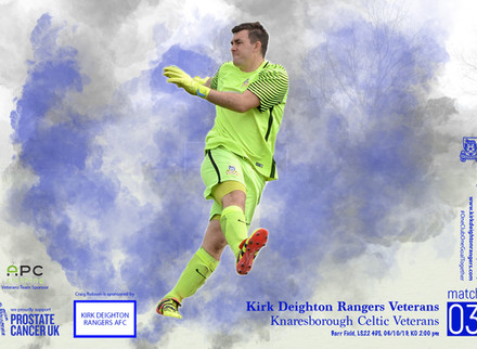 Kirk Deighton Rangers Veterans v Knaresborough Celtic Veterans Match Preview.