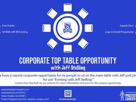 Superb Corporate Top Table Opportunity!