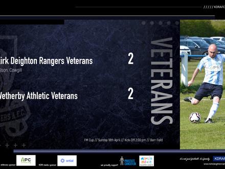 Rangers Veterans 2 v 2 Wetherby Veterans