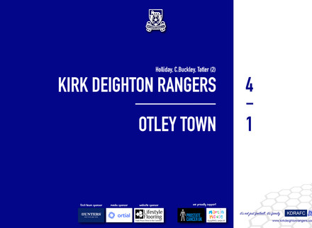 Report: Rangers 4 v 1 Otley Town