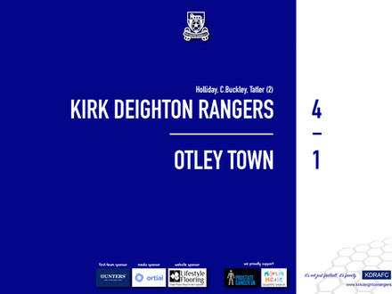 Report: Rangers 4 v 1 Otley Town