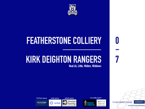 Report: Featherstone Colliery 0 v 7 Rangers