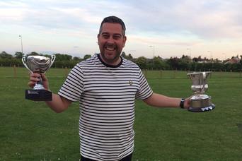 Kris Macdonald with trophies