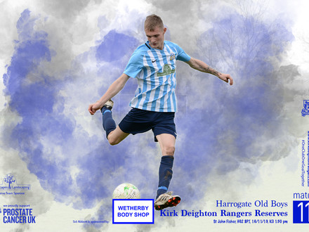 Harrogate Old Boys v Kirk Deighton Rangers Reserves Match Preview.