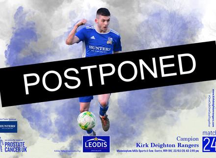 Campion Match Postponed