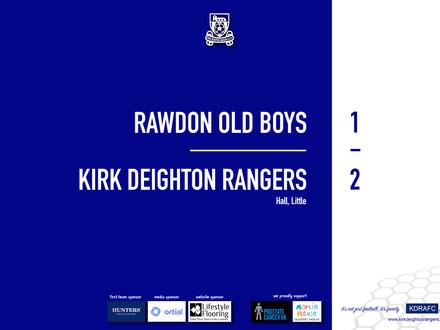 Report: Rawdon Old Boys 1 v 2 Rangers