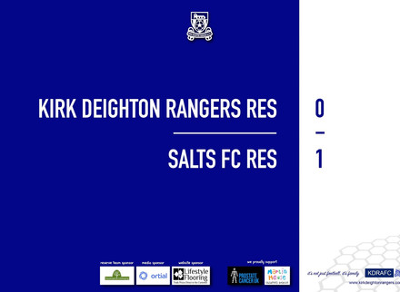 Report: Rangers Res 0 v 1 Salts FC Res