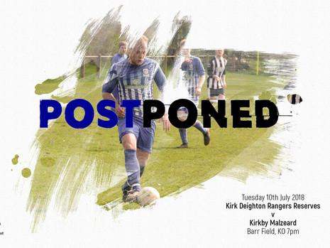 Kirkby Malzeard Match Postponed