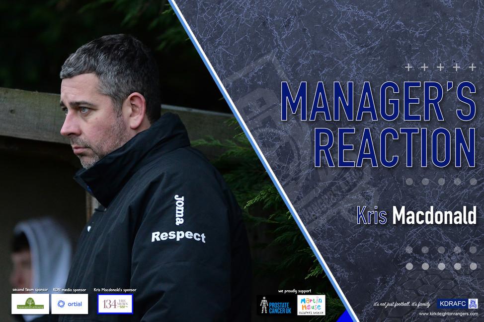 Manager's Reaction - Leeds Modernians Reserves