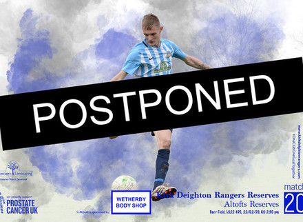 Postponed: Altofts Reserves