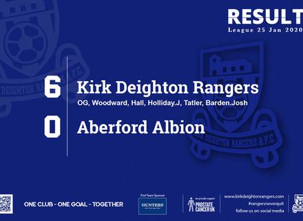 Match Report: Kirk Deighton Rangers 6 v 0 Aberford Albion