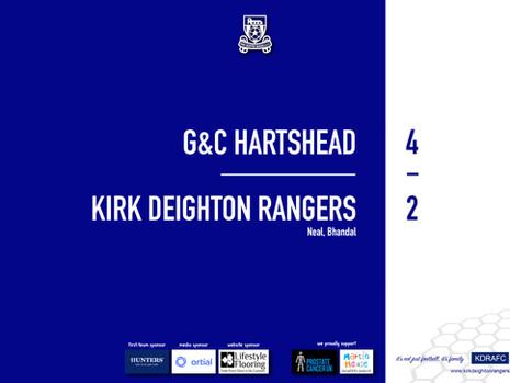 Report: G&C Hartshead 4 v 2 Rangers