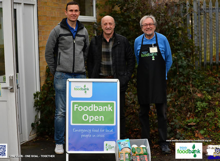 First Foodbank Donation Made.