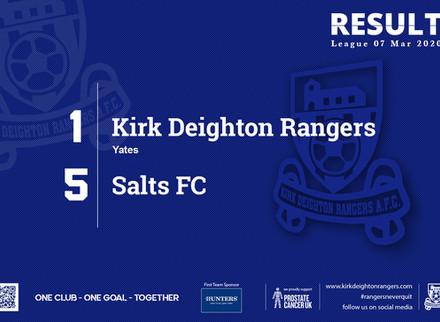 Report: Kirk Deighton Rangers 1 v 5 Salts FC