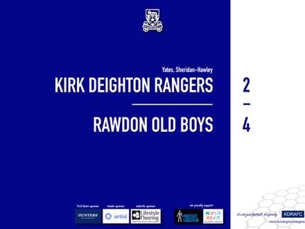 Report: Rangers 2 v 4 Rawdon Old Boys