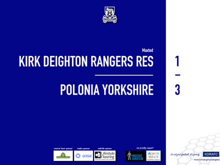Report: Rangers Res 1 v 3 Polonia Yorkshire