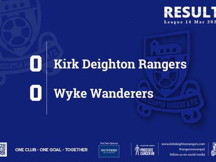 Report: Kirk Deighton Rangers 0 v 0 Wyke Wanderers
