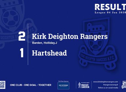 Match Report: Kirk Deighton Rangers 2 v 1 Hartshead.