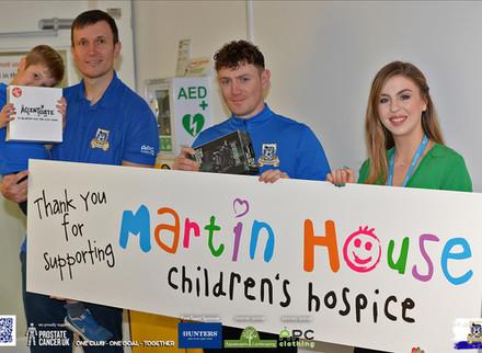 Rangers Donate To Martin House.