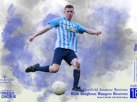 Huddersfield Amateur Reserves v Kirk Deighton Rangers Reserves Match Preview.