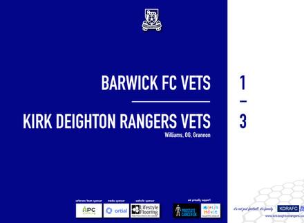Report: Barwick Vets 1 v 3 Rangers