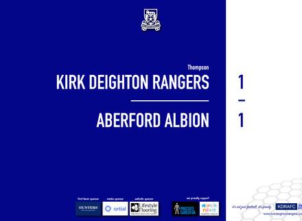 Report: Rangers 1 v 1 Aberford Albion