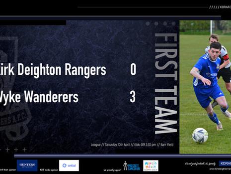 Rangers 0 v 3 Wyke Wanderers