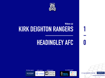 Report: Rangers 1 v 0 Headingley AFC